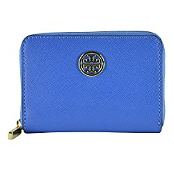 Tory Burch Robinson Zip Coin Case Windsor Blue Luggage