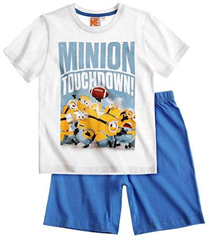 Minions Pyjama Kollektion 2016 Shortie 110 116 122 128 134 140 146 152 Shorty Kurz Schlafanzug Weiß-Blau ( 110 - 116 , Weiß-Blau)