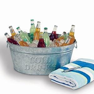 Galvanized Cold Drinks Bucket