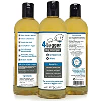 4-Legger Unscented Hypoallergenic Certified Organic Dog Shampoo For Sensitive Pets - Conditions And Soothes Dry...