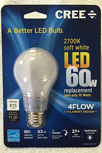 NEW-Cree 60W Equivalent 2700K Soft White A19