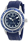 Invicta Mens 15224 Specialty Blue Textured Dial Blue Polyurethane Band Watch