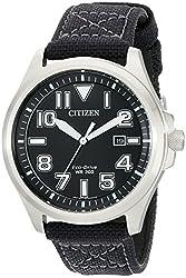 Citizen Men's AW1410-08E Sport Analog Display Japanese Quartz Black Watch