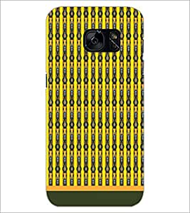 PrintDhaba Pattern D-1705 Back Case Cover for SAMSUNG GALAXY S7 (Multi-Coloured)