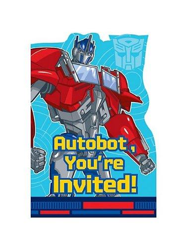 Transformers 'Prime' Invitations w/ Envelopes (8ct) - 1