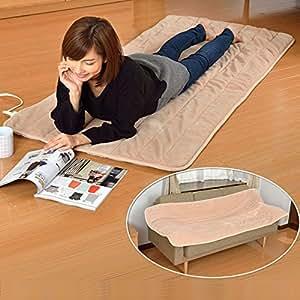 山善(YAMAZEN) 洗えるどこでもカーペット(幅80×長さ180cm) YWC-181F(C)ベージュ