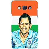 Omnam Ms Dhoni Smiling Above Indian Flag Designer Printed Back Cover Case For Samsung Galaxy A5