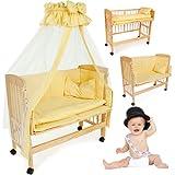 TecTake Lettino di appoggio e di supplemento completo lettino per bebé da allattare