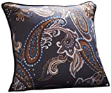 English Laundry Ashton Paisley 18-Inch by 18-Inch Filled Decorative Pillow