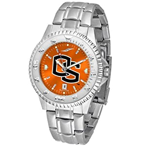 Oregon State Beavers NCAA Anochrome Competitor Mens Watch (Steel Band) by SunTime