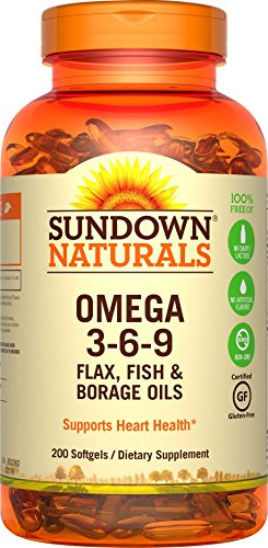 Sundown Naturals Triple Omega 3-6-9, 200 Softgels (Flax Omega 3 Supplements compare prices)