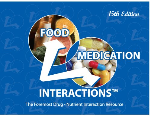 Food-Medication Interactions, 15th Edition