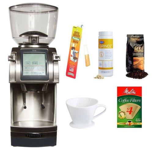 Baratza Forte-AP (All Purpose) Ceramic Flat Burr Coffee Grinder + Coffee Grinder Cleaner + Grinder Dusting Brush + Accessory Kit