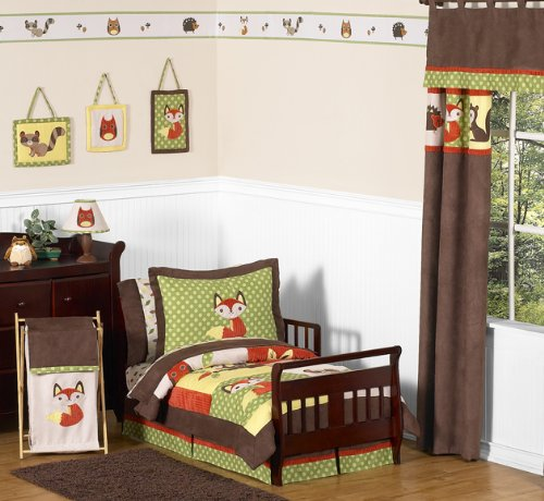Woodland Forest Animals Junior Cot Toddler Bedding 5pc Boy Bedding Set by Sweet Jojo Designs