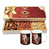 Chocholik Dry Fruits - Rocking Gift With Almonds, Cashew & Cocktail Dry Fruit With Diwali Special Coffee Mugs...