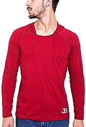 Jangoboy Men's Regular Fit Sweatshirt (F4U-10_S, Maroon, S)