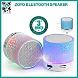 #2: Zoyo Bluetooth Speaker With Led Wireless Bluetooth Speaker With Handsfree Calling Feature, Fm Radio & Sd Card Slot Compatible Samsung, Motorola, Sony, Oneplus, HTC, Lenovo, Nokia, Asus, Lg,Oppo,Vivo, Coolpad, Xiaomi, Micromax and All Mobiles With Android devices (Assorted Colors)