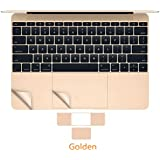 """MOCA® For Air 13 Inch Champagne GOLD Skin Sticker PalmGuard Palm Rest Protector With Trackpad Protector For MacBook Air 13"""" 13.3 Inch Champagne GOLD PalmGuard Palmrest Trackpad Protector Skin Sticker Champagne GOLD"""