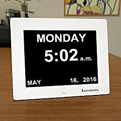 Homdox Day Clock, Memory Loss Digital Calendar Day Clock - 8 Extra Large Non-Abbreviated Day & Month, Great for Seniors Elderly Impaired Vision