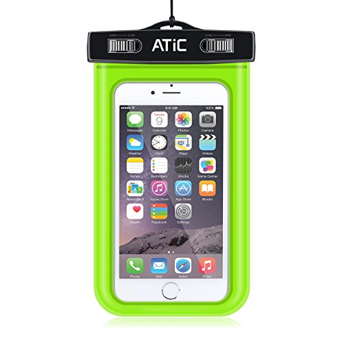 ATiC ストラップアームバンド式両用透明防水ケース - iPhone 6S / iPhone 6 / 6 Plus / 5 / 5S / 4 / 4S, Samsung Galaxy S6 / S6 Edge / s6 edge+ /S5 / S4 / S4 Active, Note 4,Note 5, iPod Touch 3 / 4 / 5, HTC ONE X / ONE S Z520E / ONE M9, Windows Phone 8 ( ATT, T-Mobile, Verizon ), Motorola DROID RAZR /MOTO G3/ LG G2 / G3 / Droid Turbo, LG G Flex 2, Nexus 4 / Nexus 6, Zenfone 2, Sony Z1 / Z2 / Z3(5.7インチ以下の携帯)に適用ストラップアームバンド式両用防水 ケース。防水保護等級 : IPx8。GREEN