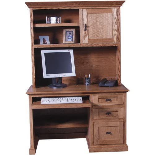 48 Mission Wood Computer Desk With Hutch By Forest Designs