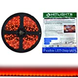 WATER PROOF SMD STRIP LED LIGHT IN RED COLOUR WITH FREE LED DRIVER AND POWER CORD