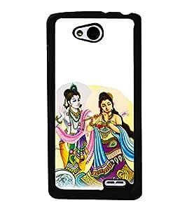 printtech Radha Krishna Beautiful Back Case Cover for LG L90