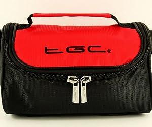 New TGC Crimson Red & Black Shoulder Case Bag for the Nikon coolpix L810 Camera