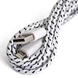 Generic 3ft White New Arrival 8 Pin Rope Usb Sync Charger Data Cable Cord Data for iPhone 5/iPhone6/ipad Mini/iPod Touch-Replacement Rope Cable for phone