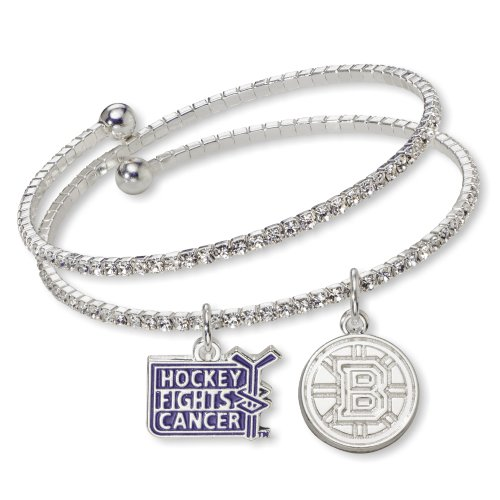 NHL Boston Bruins Hockey Fights Cancer Support Bracelet, One Size Fits All