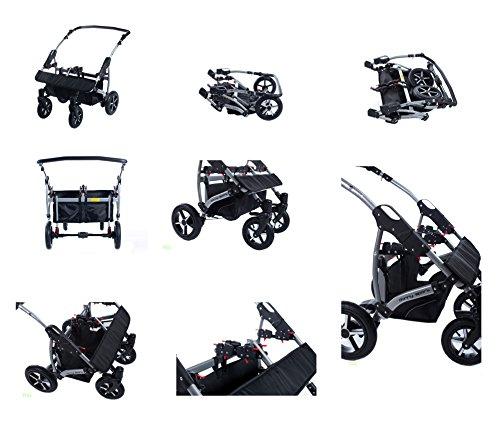 Zwillingskinderwagen mit babyschale  3 in 1