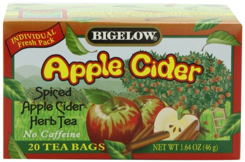 Bigelow Apple Cider Herbal Tea, 20-Count Boxes (Pack of 6)