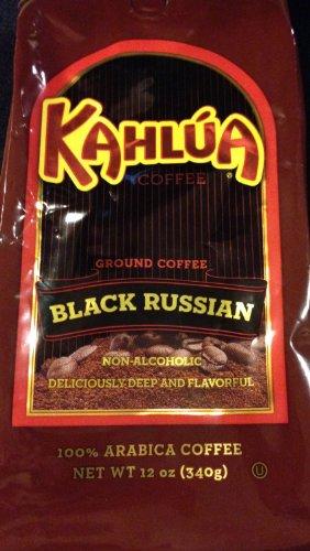 Kahlua Black Russian Gourmet Ground Coffee 12 Oz Package