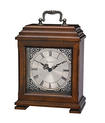 Table Top Clock in Brown Cherry Finish