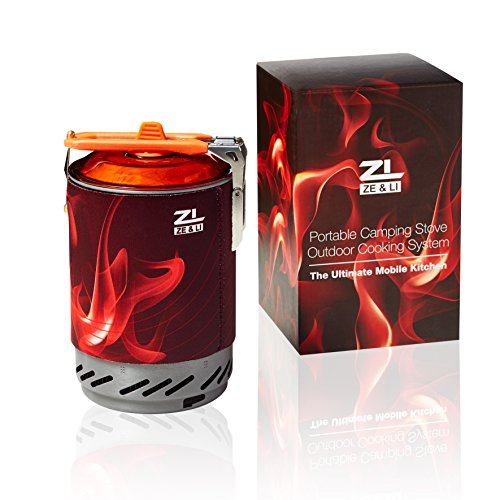 Portable Camp Stove Burner by Ze&Li, Ultralight Backpacking Canister for Hiking, Camping and Outdoor Adventures, All-In-One Solution (Miniature Wood Burning Stove compare prices)