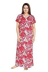 Vimal Fashion Cotton Multi Colour Printed Night Wear / Nightgown / Women Sleepwear / Womans Pyjamas (VF057)