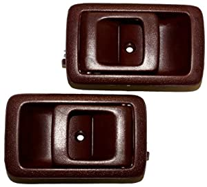 Latchwell Pro 4002224 Pair Of Interior Door Handles In Red For Toyota Camry Tercel
