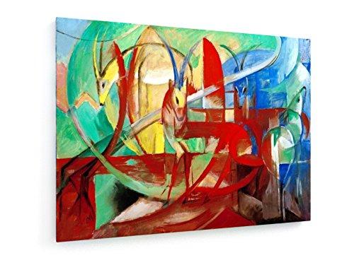 franz-marc-gacelas-pintura-1913-1914-100x75-cm-weewado-impresiones-sobre-lienzo-muro-de-arte