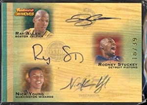 07 Topps Trademark Allen Stuckey Young Triple Auto Card