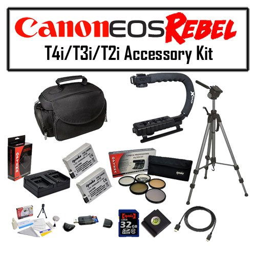 Deluxe Accessory Kit for Canon EOS Rebel T2i