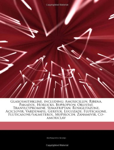 articles-on-glaxosmithkline-including-amoxicillin-ribena-panadol-horlicks-bupropion-orlistat-tranylc