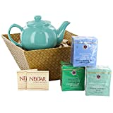 Relax Gift Basket with Teas, Teapot and Honey