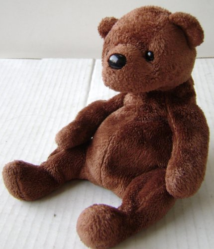 Sitting Brown Bear Plush Stuffed Animal Toy - 5 1/2 inches tall
