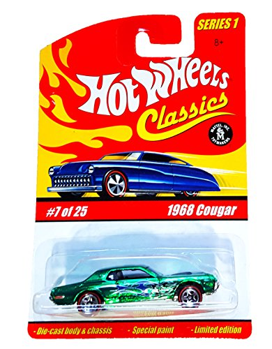 Hot Wheels Classics Series 1 #7 of 25 1968 Cougar Green with Blue Flames