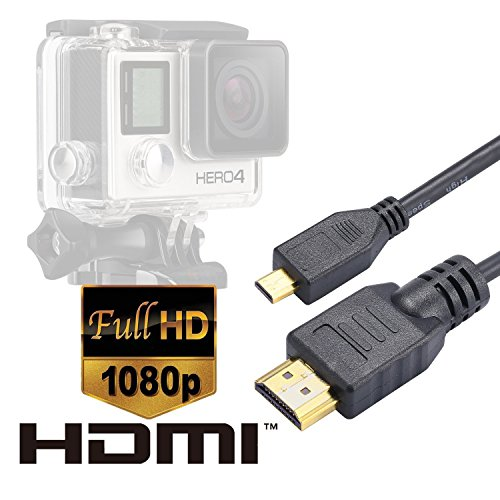 Luxebell-Micro-HDMI-HD-Video-Kable-fr-Kamera-Gopro-Hero3Hero3Hero4-Black-Edition-and-Silver-Edition-Kamera-Version-145feet15m