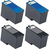 4-Pack (2BK+2C) Series 11 Remanufactured Hi-Yield Ink For Dell JP451 JP453 All-in-One 948 V505w V505 Printer