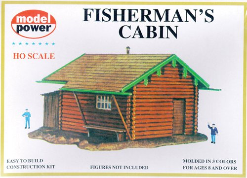 Model Power HO Scale Building Kit - Fisherman's Cabin