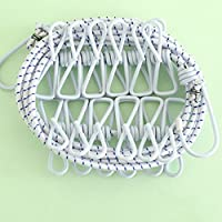 KF096 Portable 185cm Travel Outdoor Camping Clothes Line Hanging Rope with 12 Pegs (white)