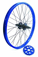 Savage BMX Bike / Cycle Rear Wheel Conversion Kit 25/9T Blue with Black Hub from Savage