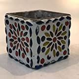 Dlite Crafts Multicolor Polka Design Home Decorative Votive Candle Holder, Set Of 2 PCs - B06XYKRH85